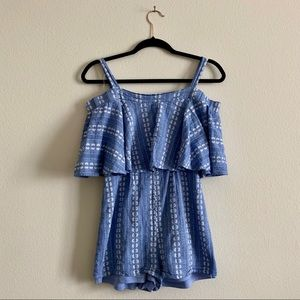 🎈 Blue romper with straps